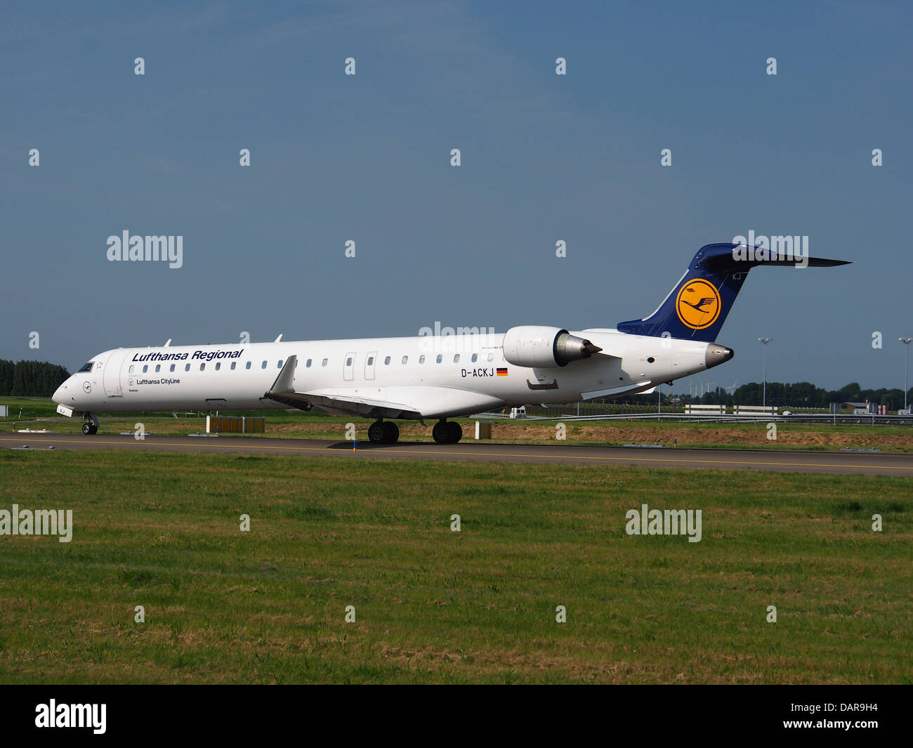 D-ACKJ Lufthansa CityLine Canadair CL-600-2D24 Regional Jet 3 - Stock Image