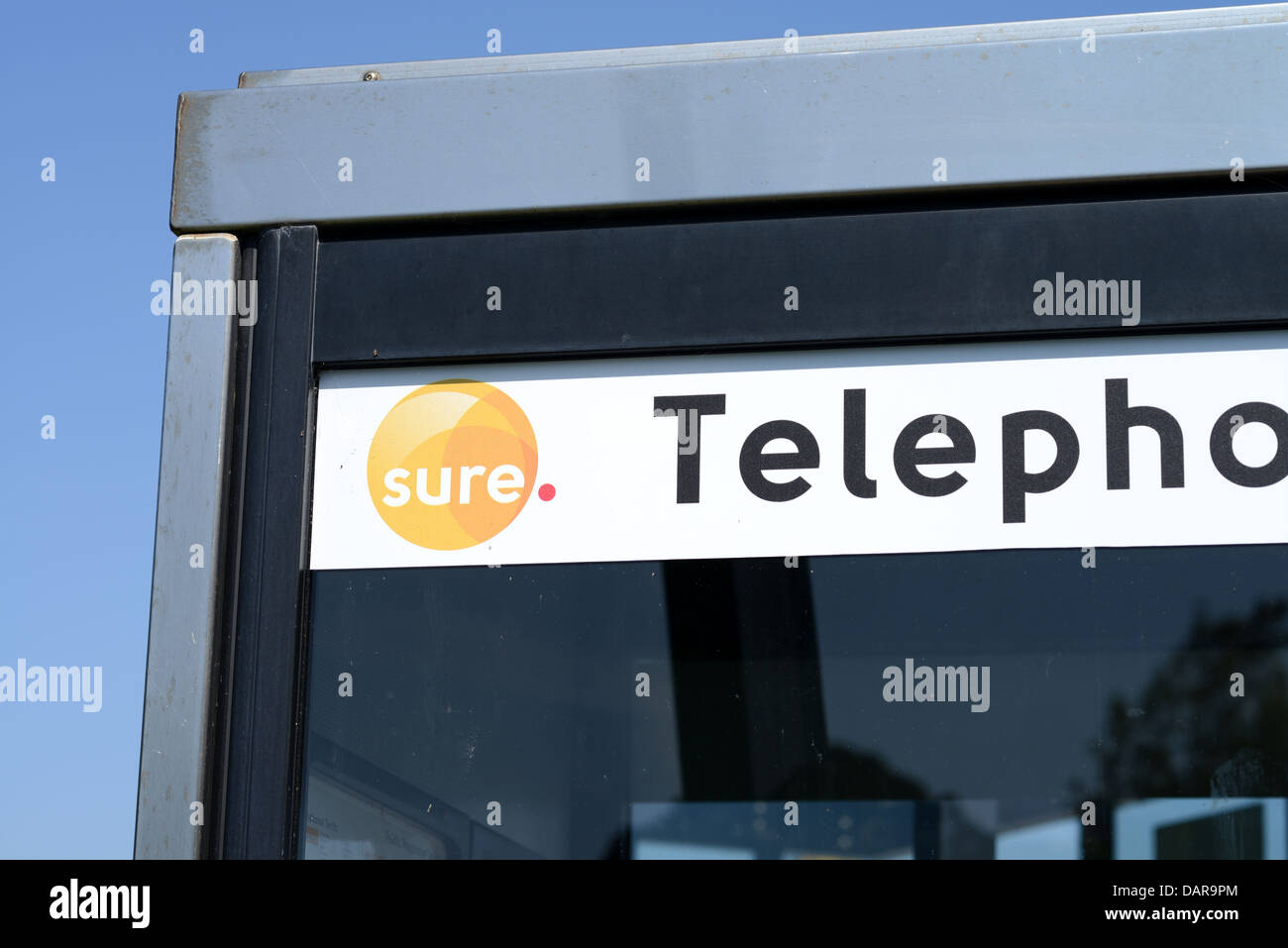 Sure telephone box - Stock Image