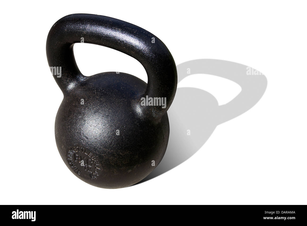Thick Handle kettlebell - an amazing strength and conditioning tool isolated on a white background - Stock Image