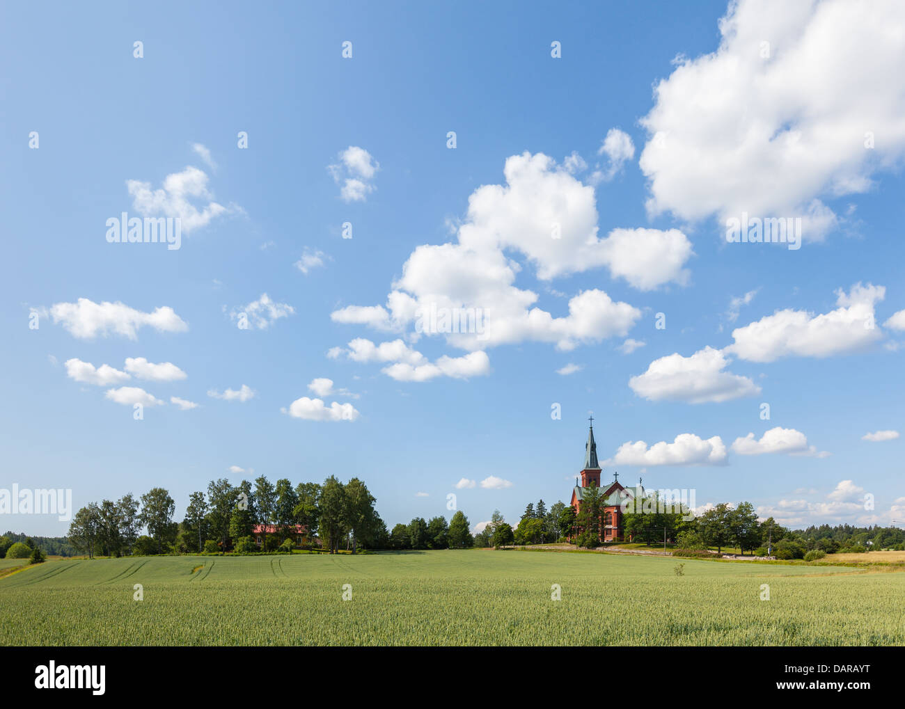 Summery view of Sipoo, Finland - Stock Image