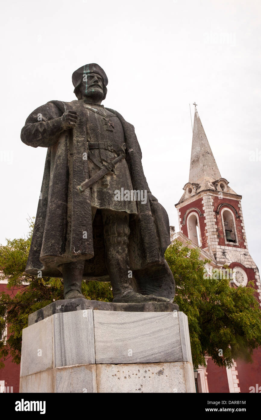 Africa, Mozambique, Mozambique Island. Monument to Portuguese colonialist. - Stock Image