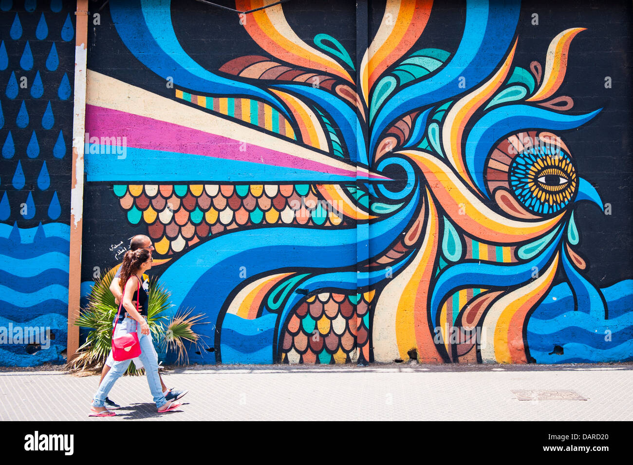 Street Art Wall Art Tel Stock Photos Street Art Wall Art Tel Stock