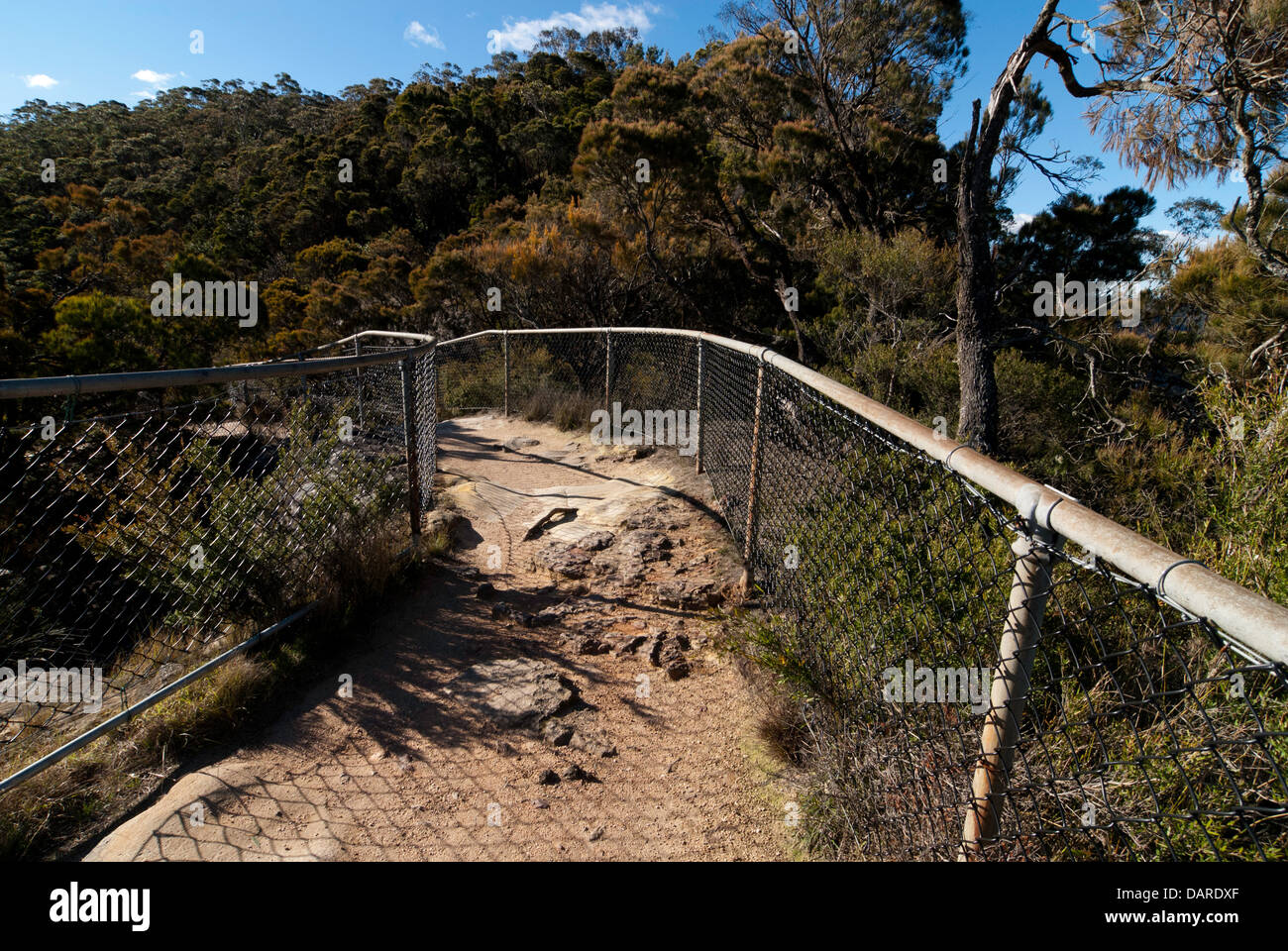 Pathway to the Sublime Point viewing rock, Blue Mountains, Australia Stock Photo