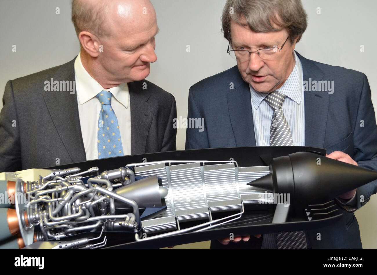 Glasgow, UK. 18th July, 2013. UK Government Science and Universities Minister David Willetts (L) with Alan Bond - Stock Image