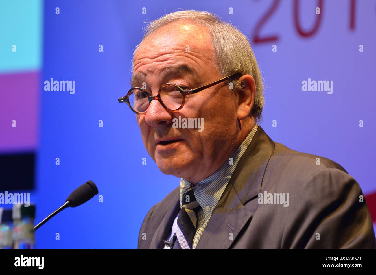 Jean-Jacques Dordain, European Space Agency Director General, speaking at the 2013 UK Space Conference in Glasgow. - Stock Image