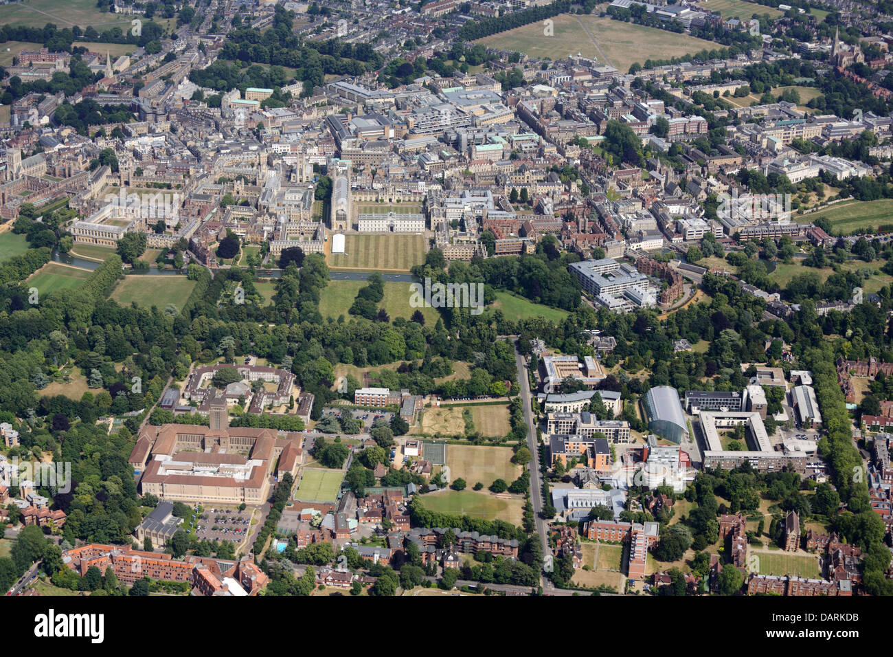 Cambridge from the West - Stock Image