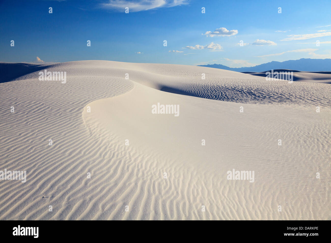 USA, New Mexico, White Sands National Monument - Stock Image