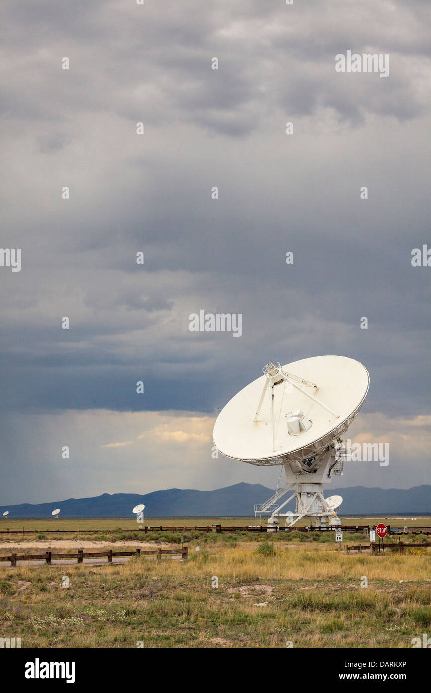 USA, New Mexico, Socorro, Very Large Array International Radio Telescope Stock Photo
