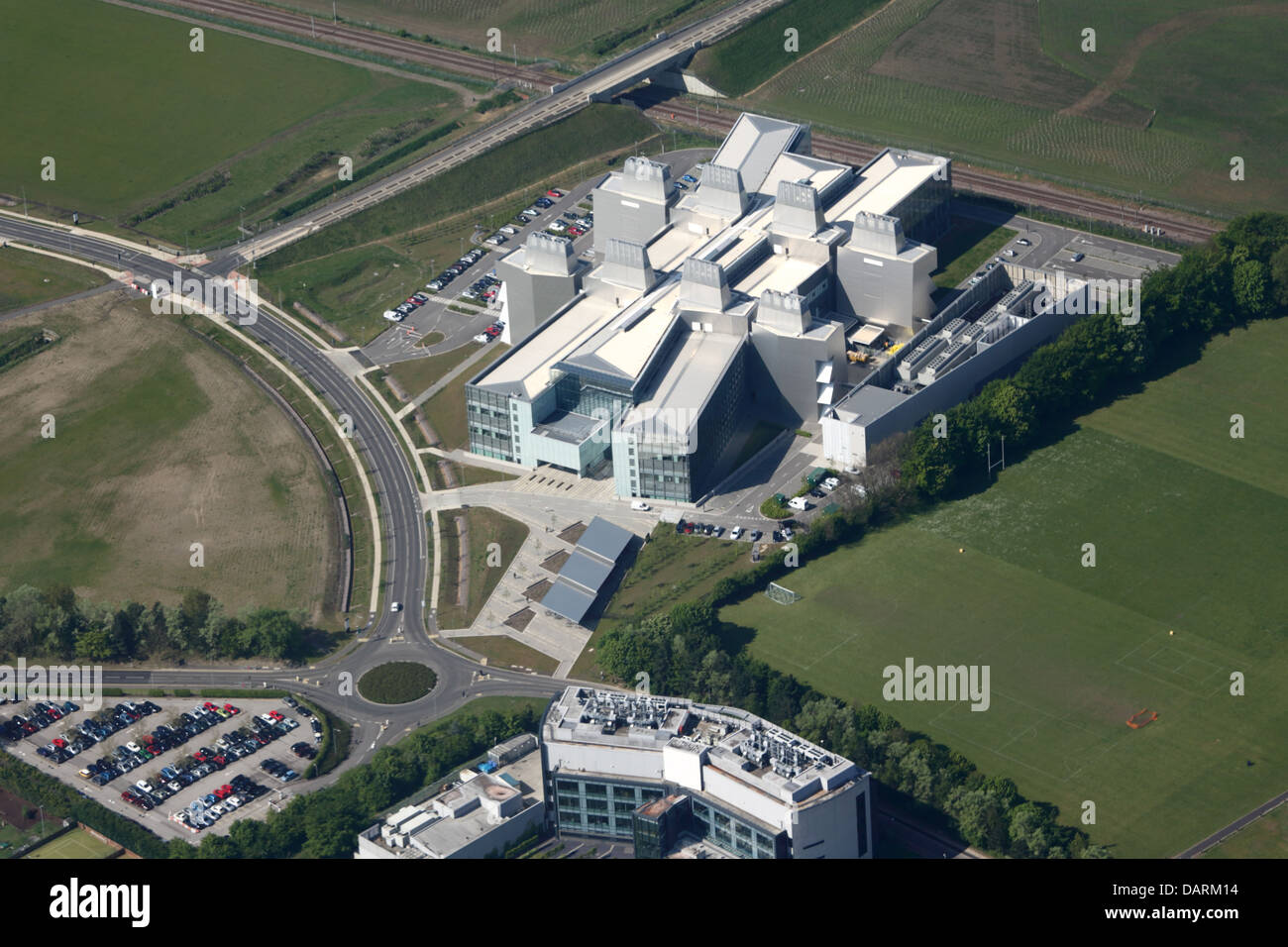 Aerial View of the New Lab of Molecular Biology, Cambridge - Stock Image