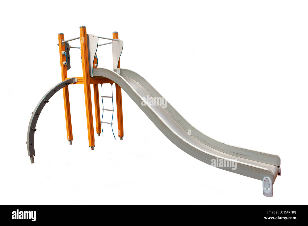 Outdoor Playground equipment on a white background - Stock Image