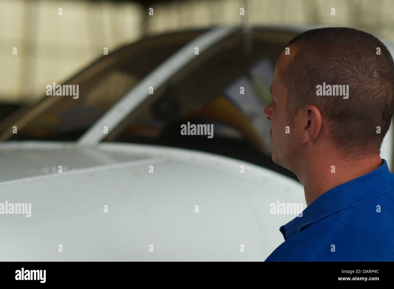 Aviation engineering - Stock Image