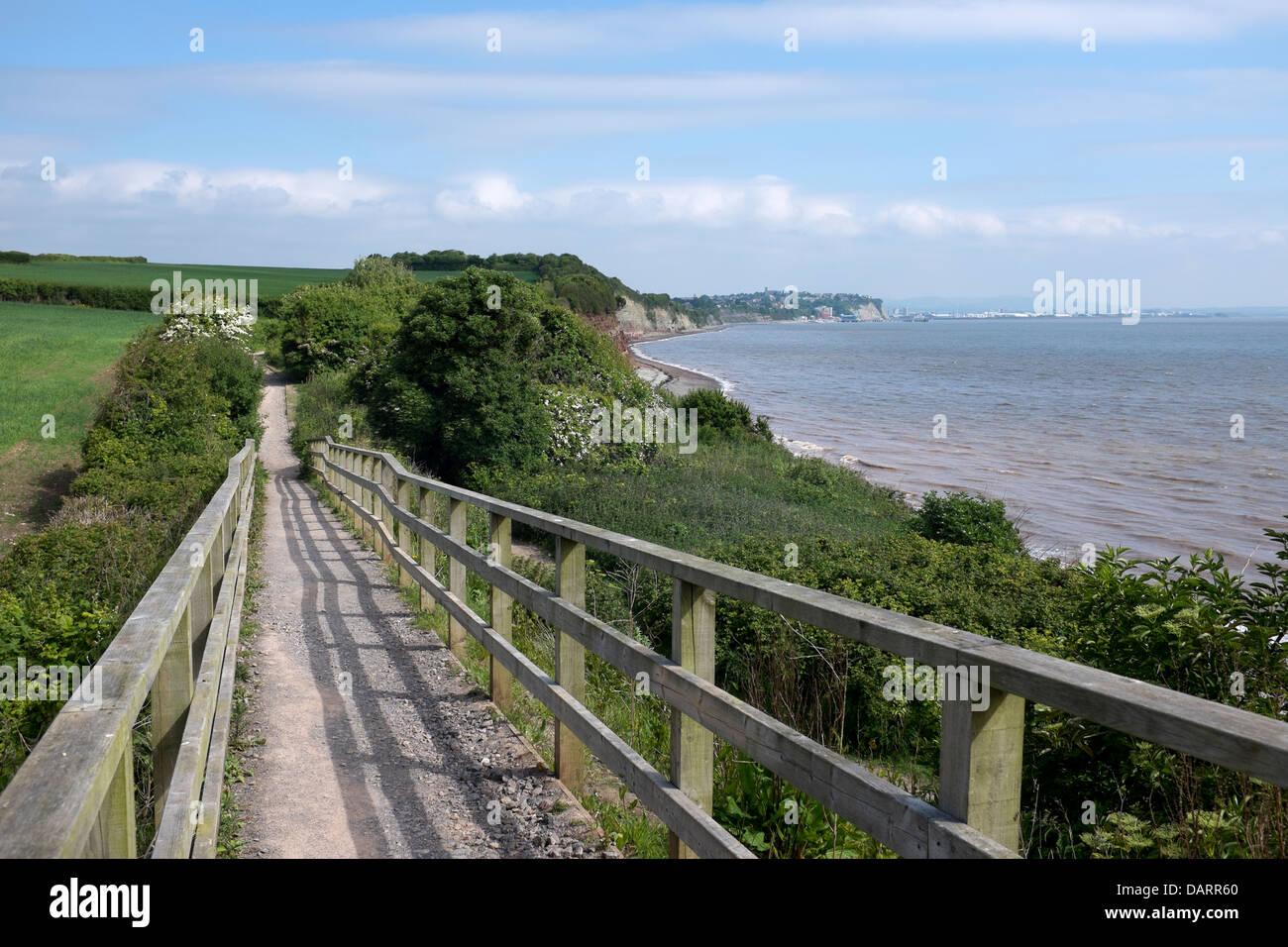 Wales Coastal Path near Penarth - Stock Image