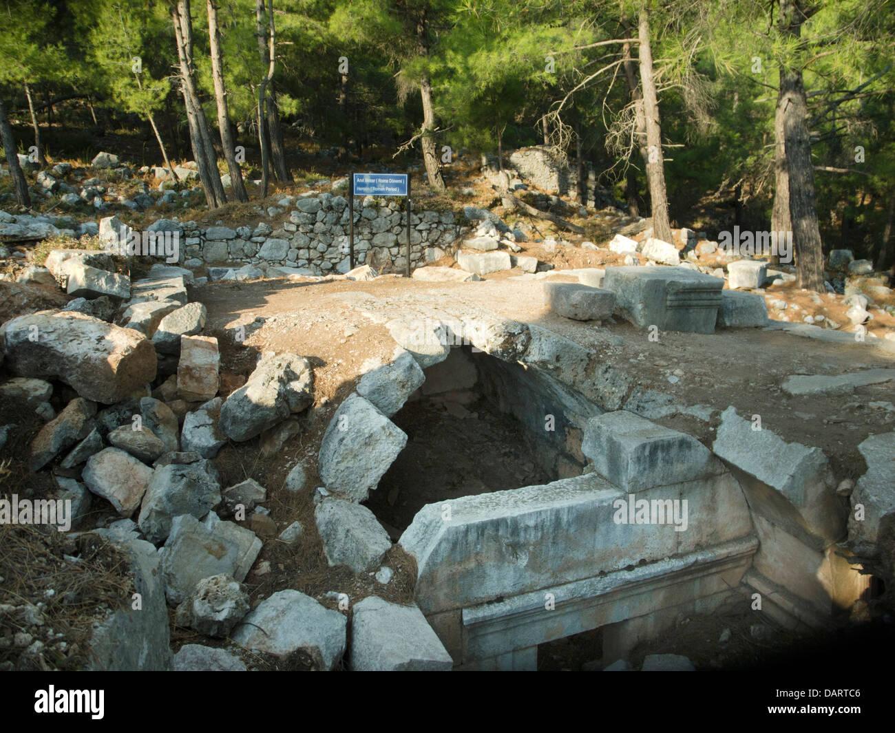Asien, Türkei, Provinz Mugla, Ausgrabung von Cadianda nördlich von Fethiye bei Yesil Üzümlü. - Stock Image