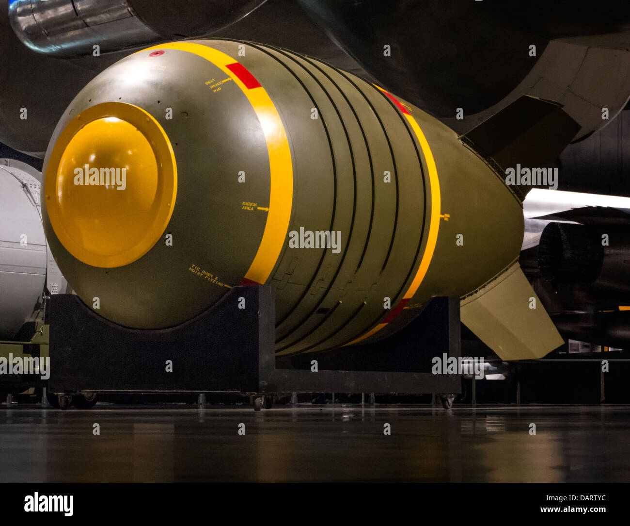 A type 6 atomic bomb on display at the United States Air force Museum in Dayton Ohio - Stock Image