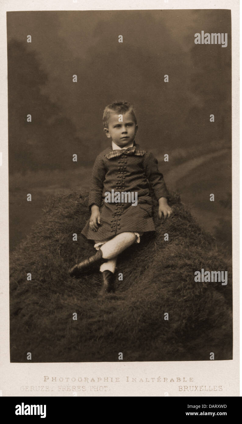 People Children Boy Carte De Visite By Geruzet Freres Bruxelles Belgium Circa 1900 Additional Rights Clearences NA
