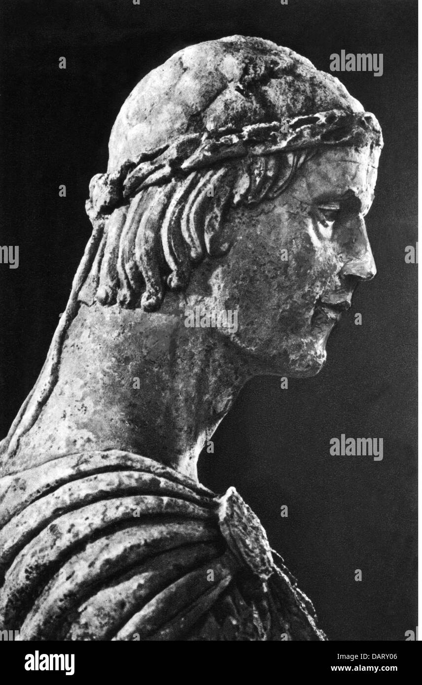 Frederick II, 26.12.1194 - 13 12.1250, Holy Roman Emperor 22.11.1220 - 13.12.1250, portrait, bust, 13th century, - Stock Image