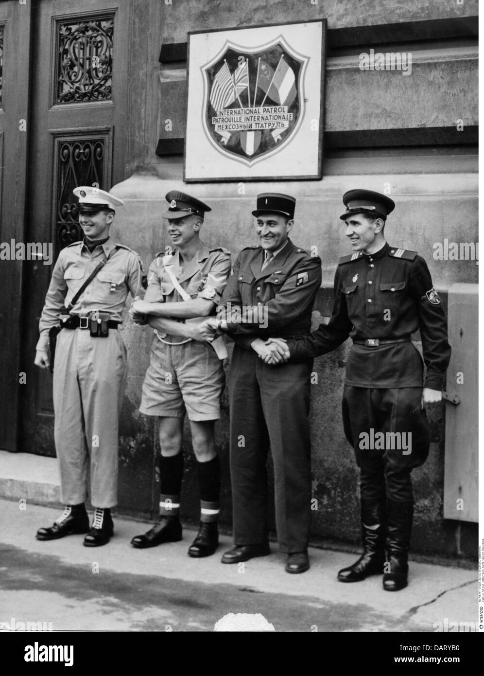 geography / travel, Austria, post war period, occupation, international police, military police officers of the - Stock Image