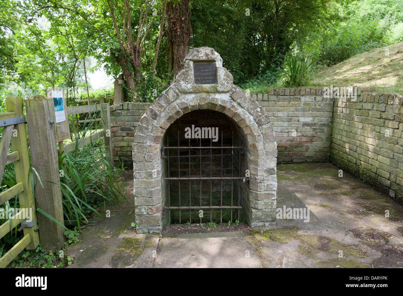 The Holy water well at Holywell Cambridgeshire UK - Stock Image