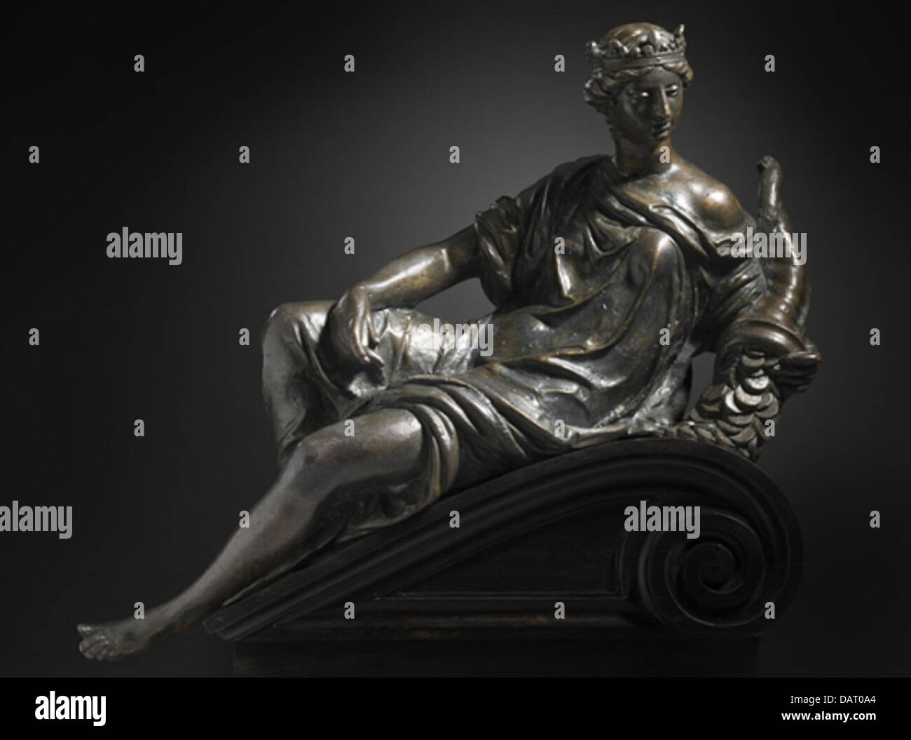 Allegories of Magnificence and Magnanimity, Pair of Reclining Figures AC1994.51.1-.2 (1 of 2) Stock Photo