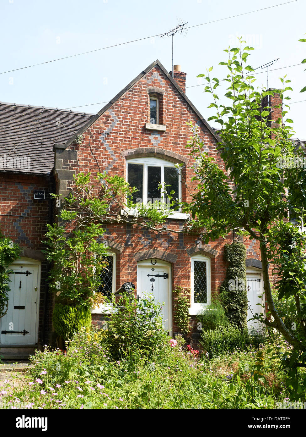 Tenderly cottage with garden in Sandbach Cheshire UK - Stock Image