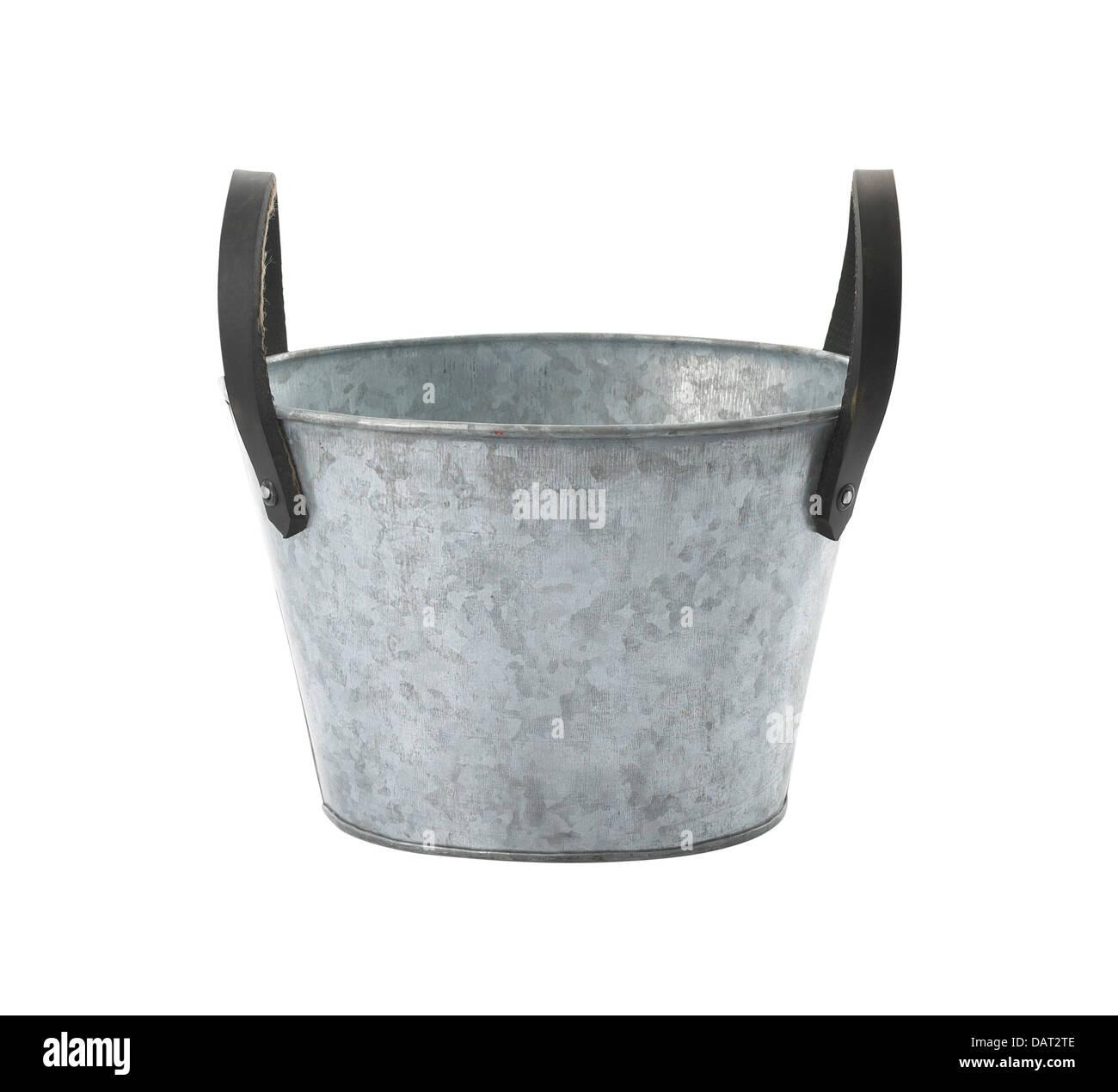 Galvanized pot - Stock Image