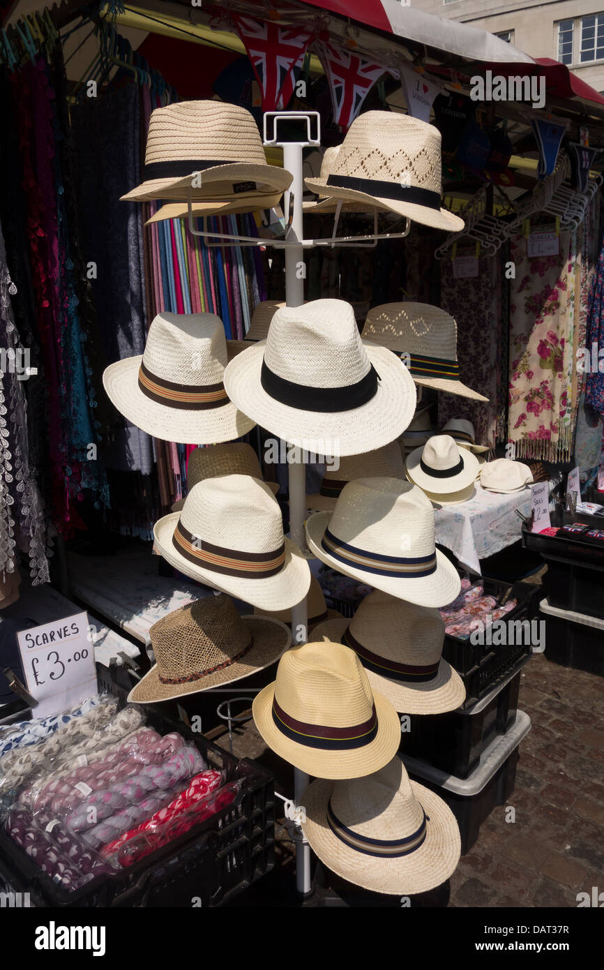 e7d1ab57e168d4 Hats on stand for sale in Cambridge market Stock Photo: 58307083 - Alamy