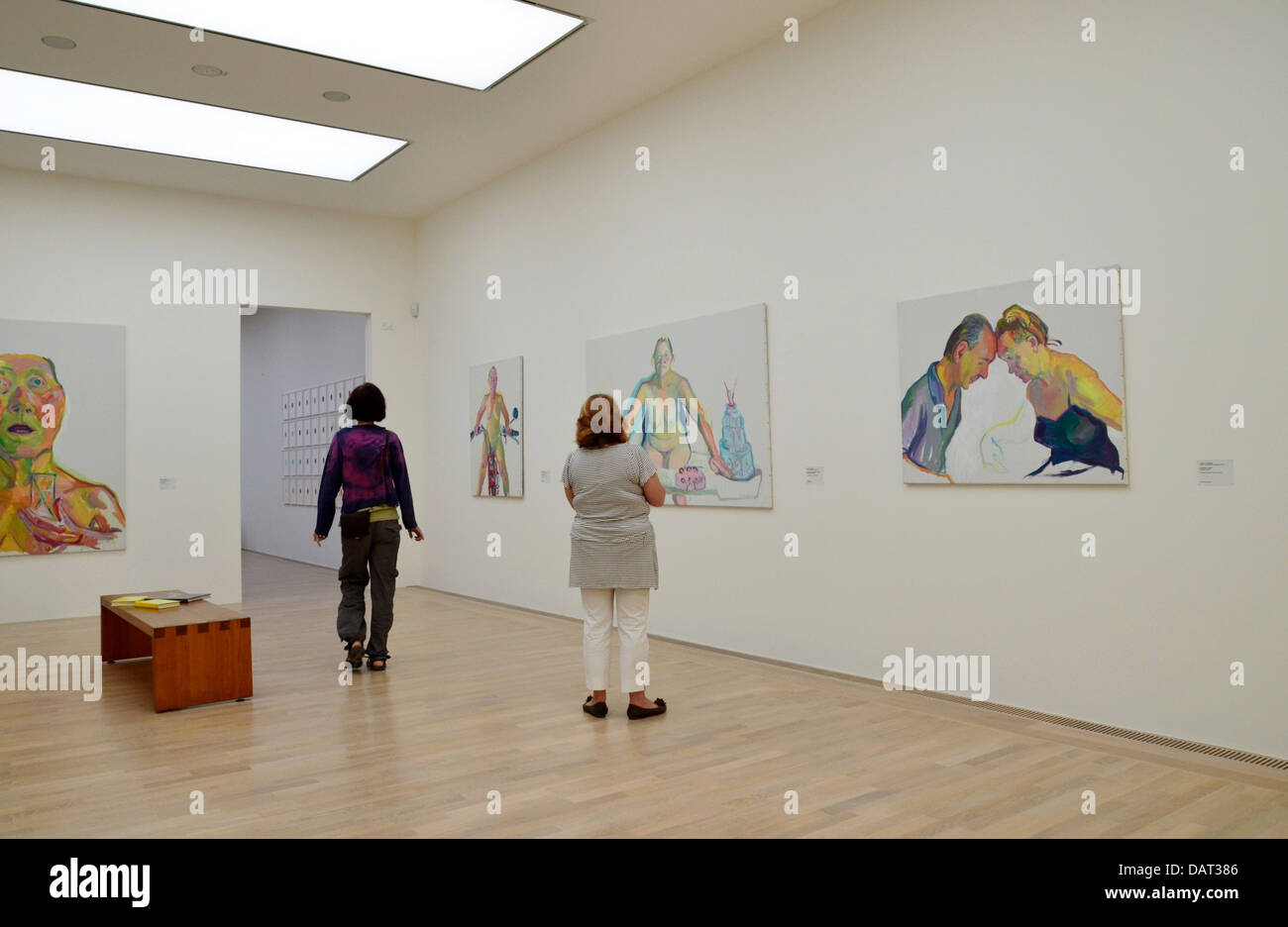 Maria Lassnig (8 September 1919 – 6 May 2014) was an Austrian artist known for her painted self-portraits and her - Stock Image