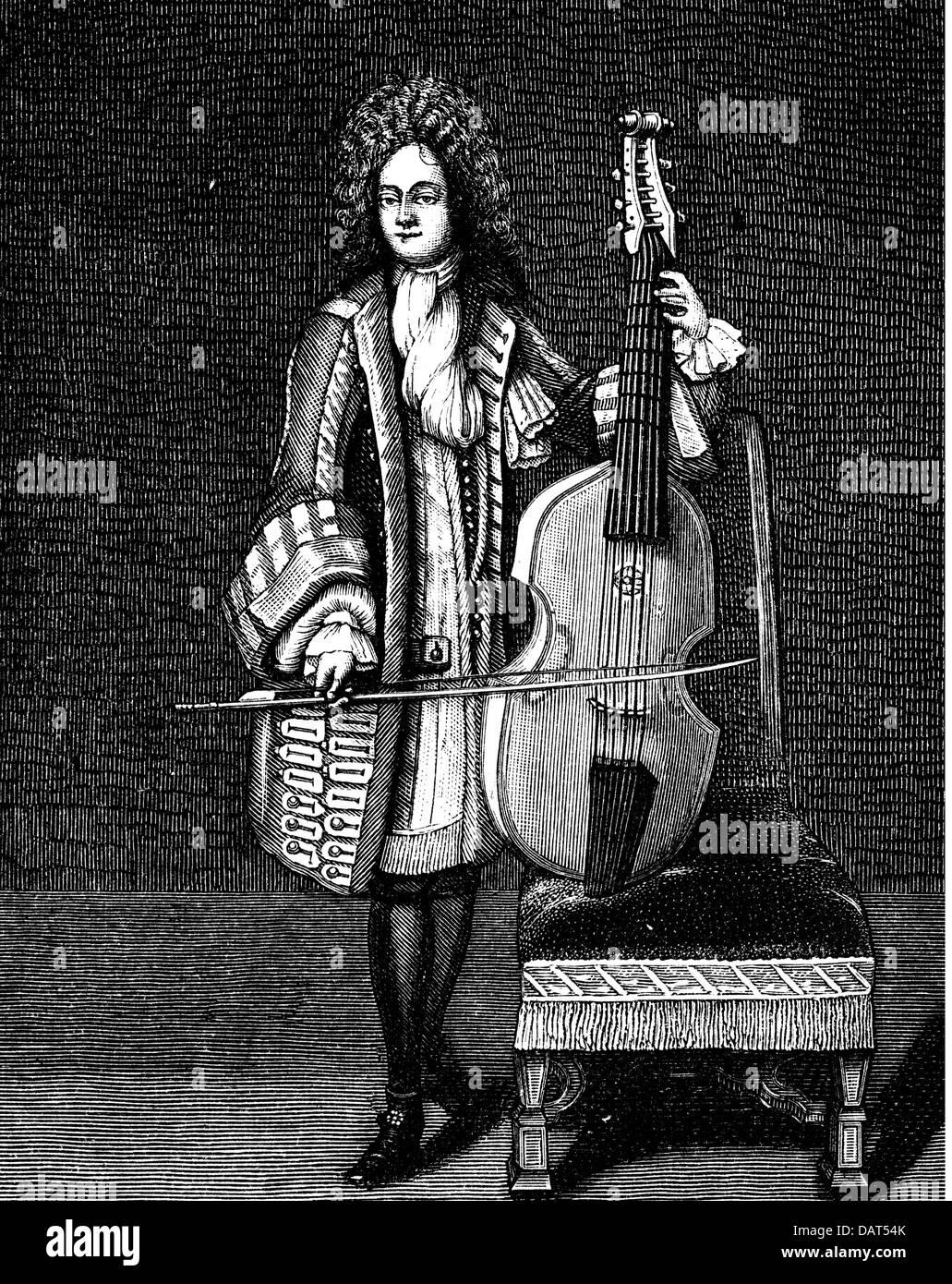 Schenk, Johann, 30.11.1753 - 29.12.1836, Austrian musician (composer), full length in livery, wood engraving based - Stock Image