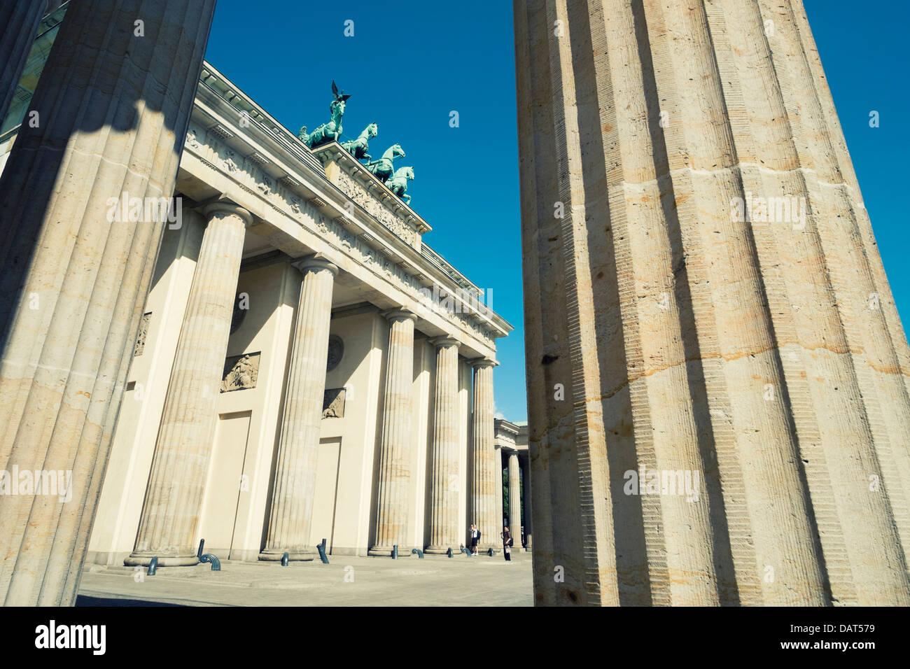 Brandenburg Gate in Berlin Germany - Stock Image