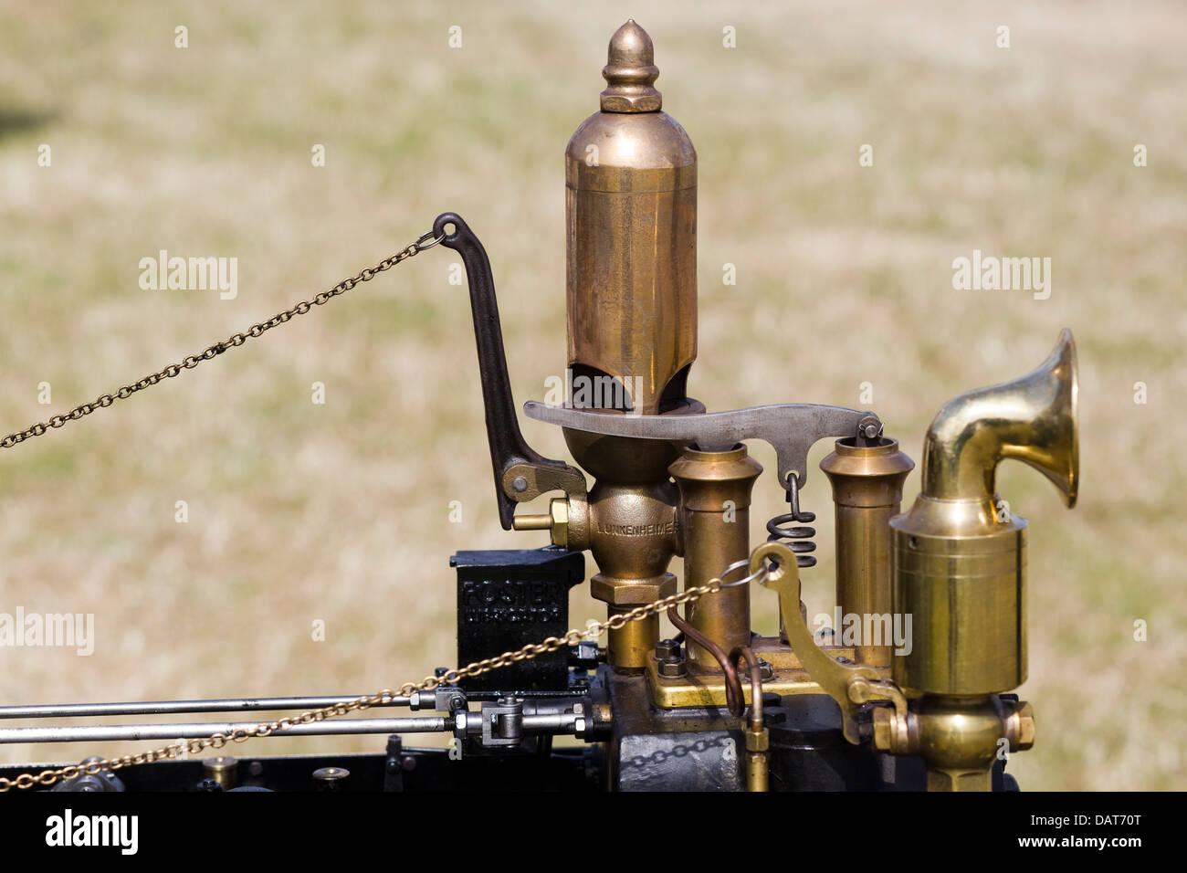 Whistle Horn On Steam Engine Stock Photos & Whistle Horn On