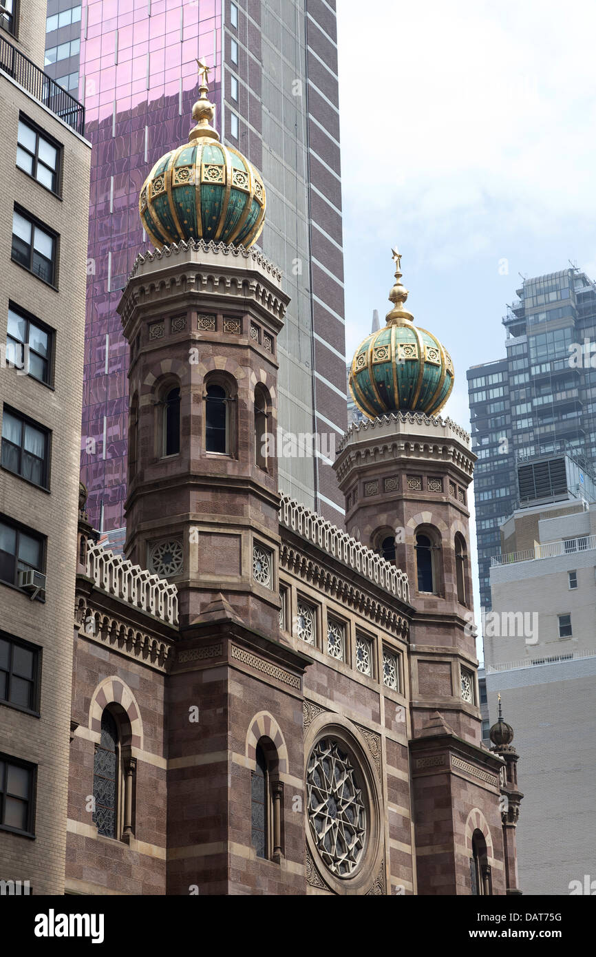 Central Synagogue in Manhattan, New York City - Stock Image