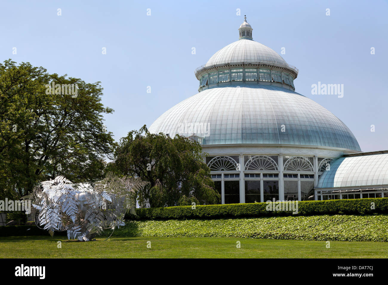The Enid A. Haupt Conservatory of the Botanical Garden in the Bronx, New York City - Stock Image