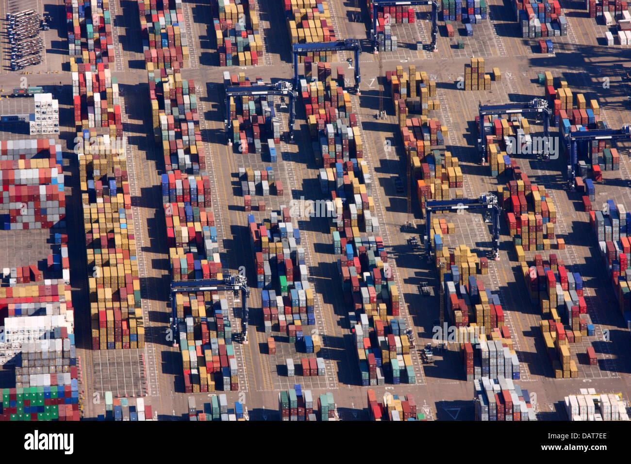 Shipping Containers, Felixstowe Docks Stock Photo
