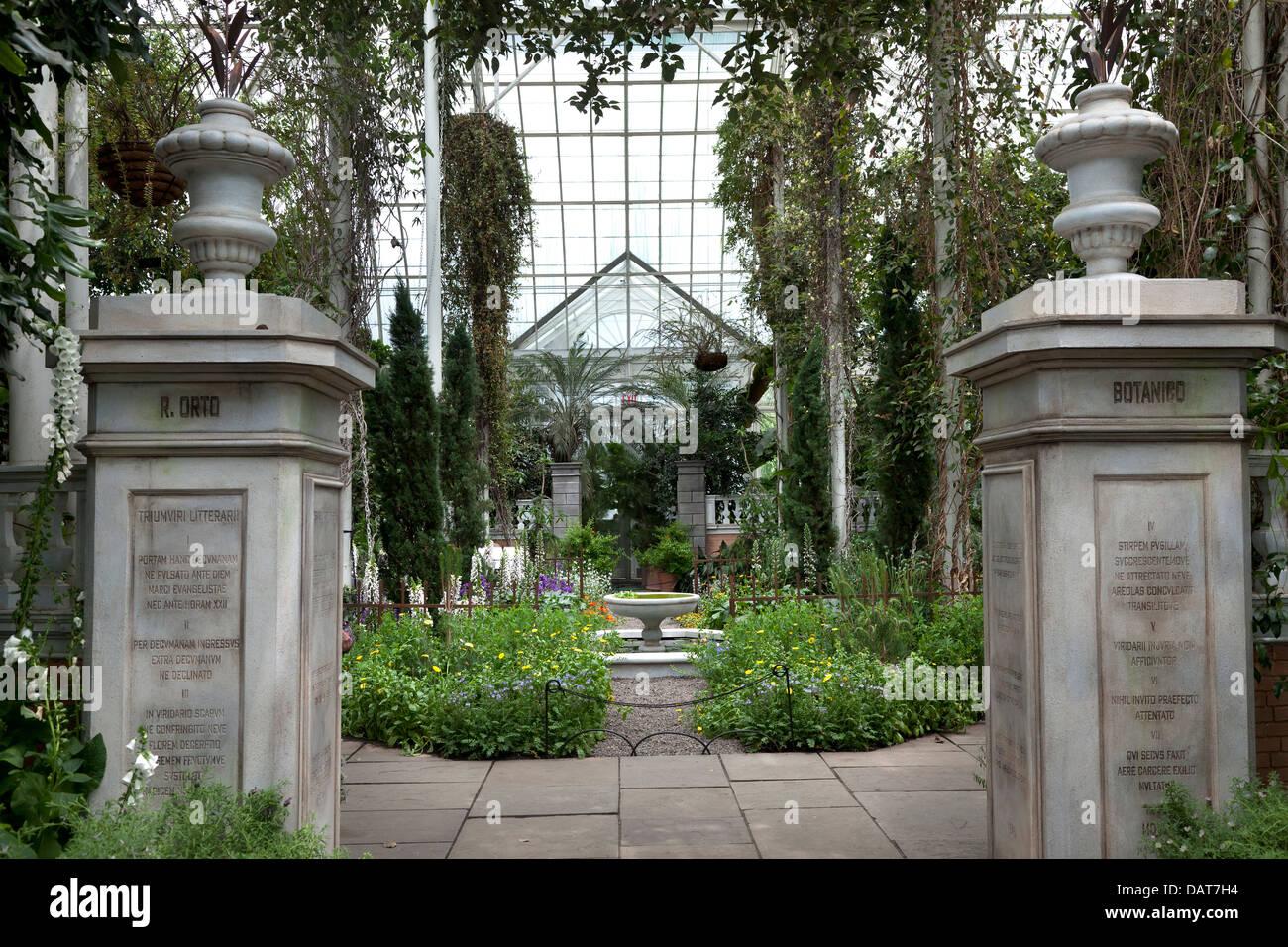 Botanical Garden in the Bronx, New York City - Stock Image