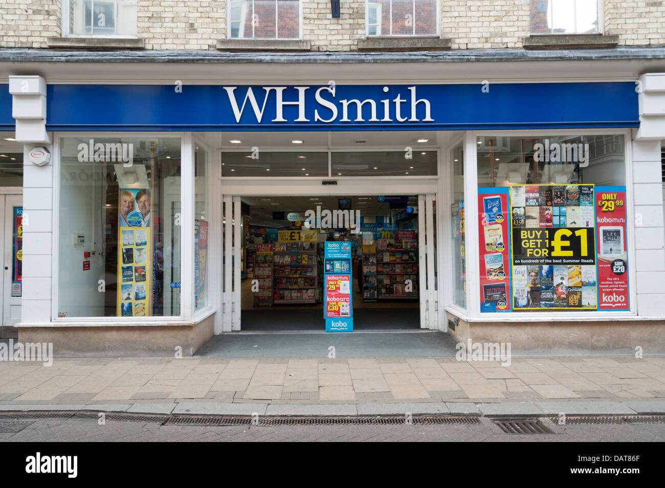 WH Smith shop Cambridge UK - Stock Image