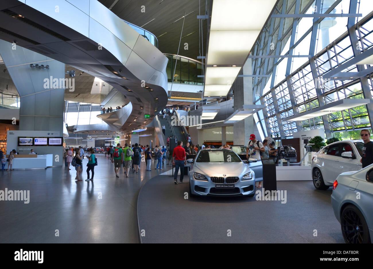 BMW Welt BMW World fantastic futuristic architectural design! Munich, Bavaria, Germany - Stock Image