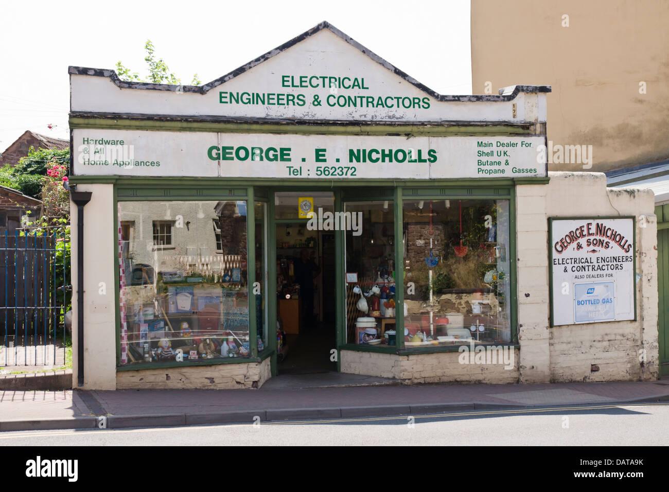 Ross-on-Wye Herefordshire England UK  Nicholls electrical shop - Stock Image