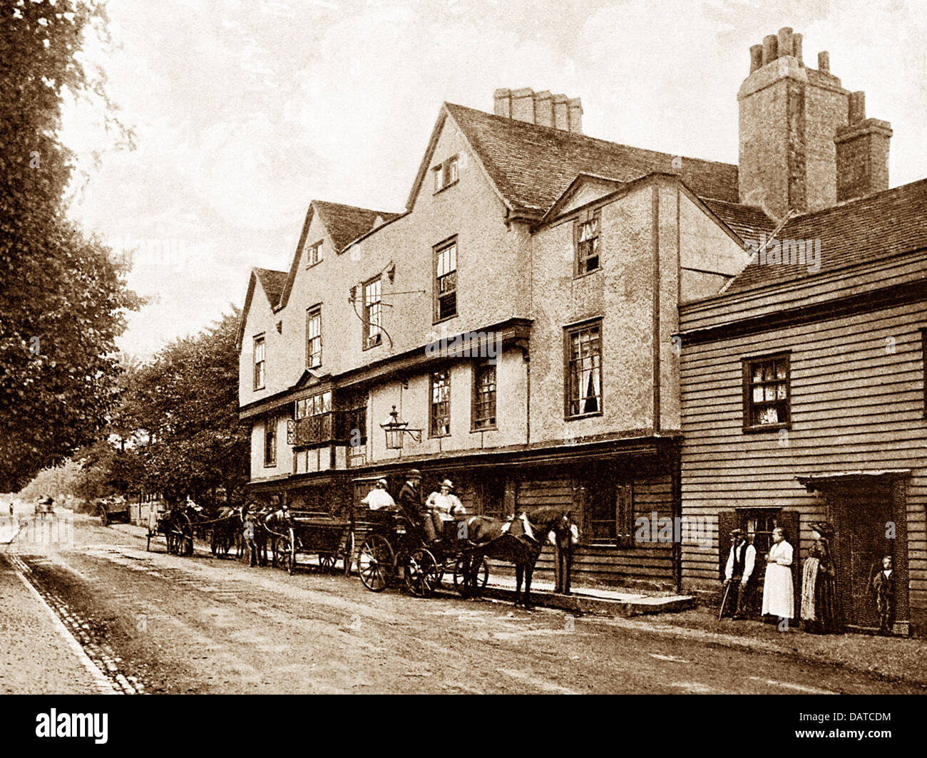 Chigwell The King's Head early 1900s - Stock Image