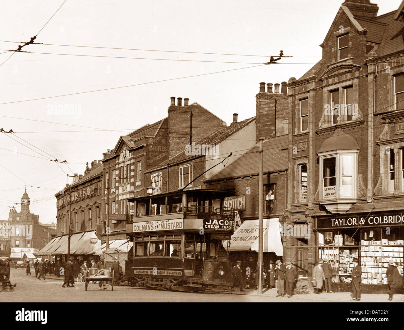 Doncaster St. Sepulchre Gate early 1900s - Stock Image