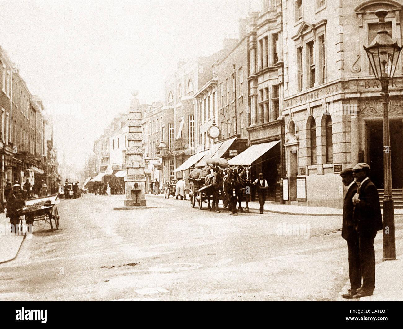Dorchester Cornhill early 1900s - Stock Image