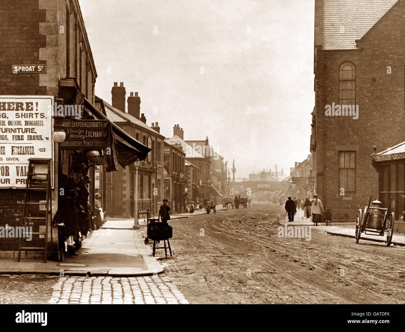 Blyth Regent Street early 1900s - Stock Image