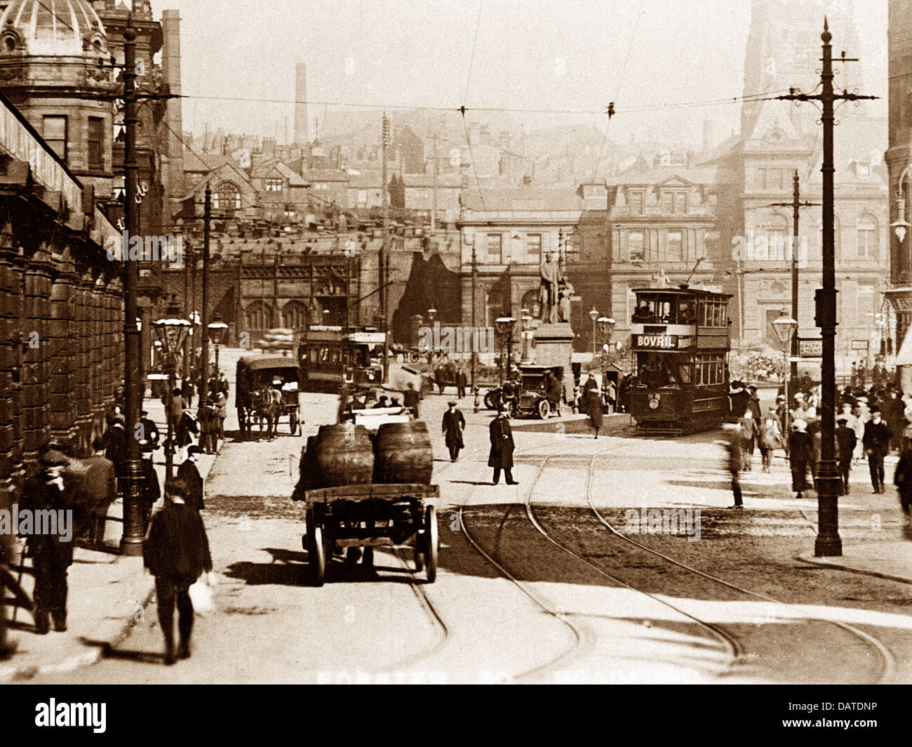 Bradford Forster Square early 1900s - Stock Image