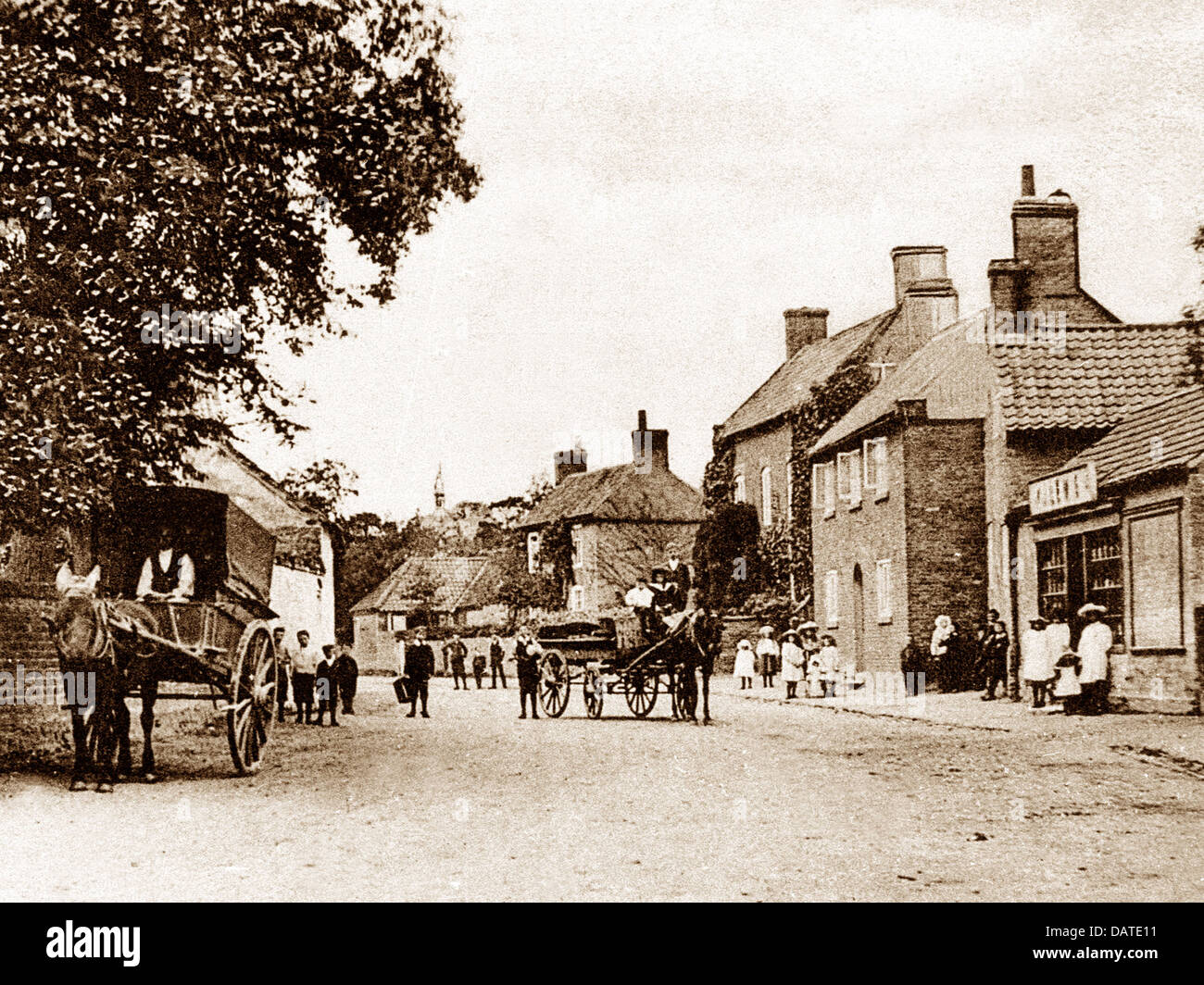 Flintham early 1900s - Stock Image