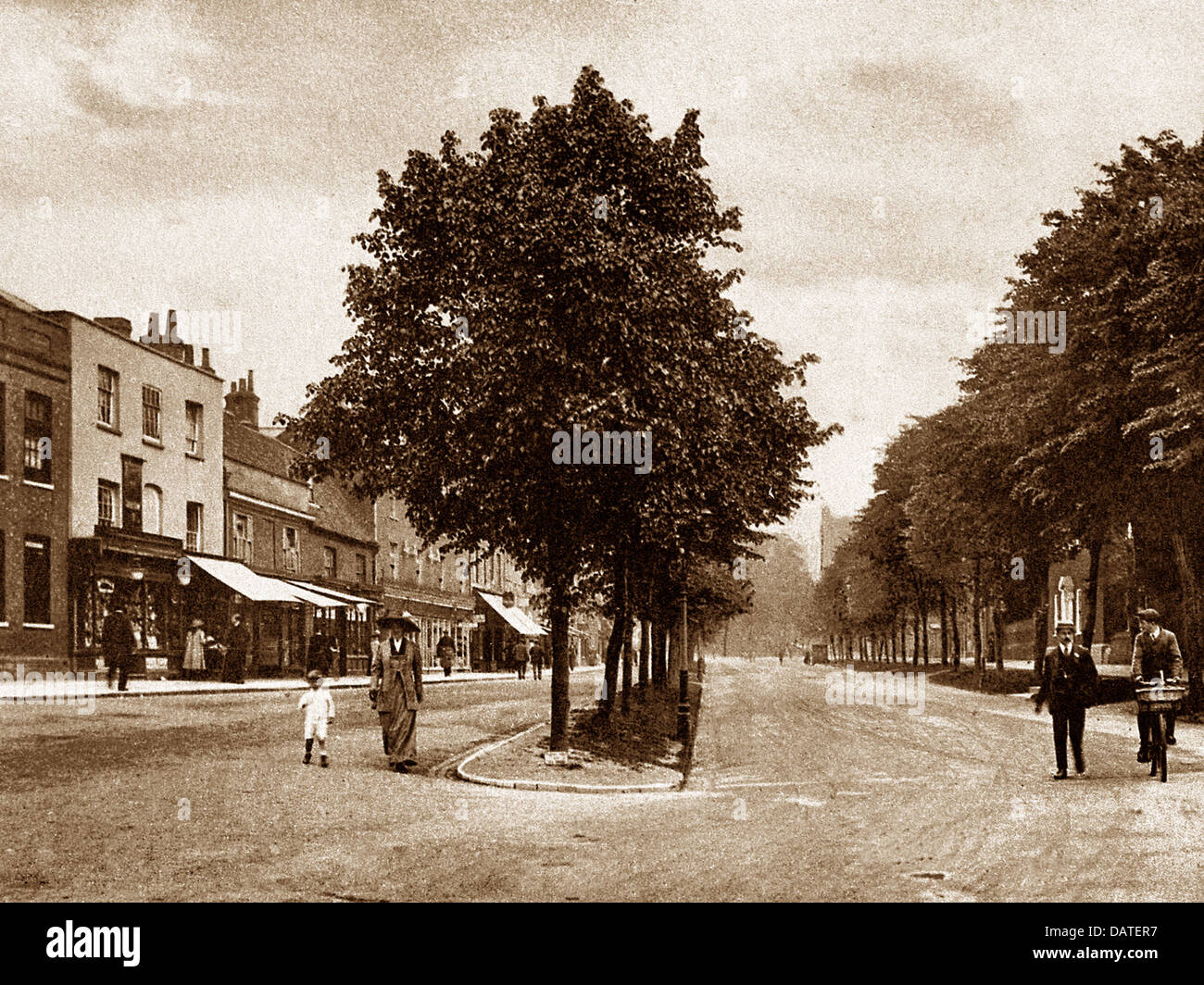 St. Albans St. Peter's Street early 1900s - Stock Image