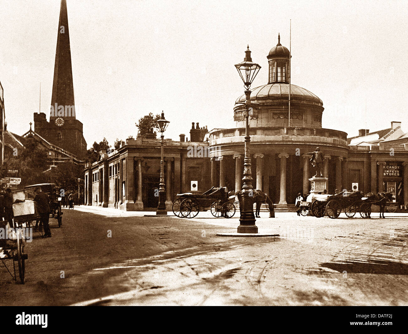 Bridgwater Cornhill early 1900s - Stock Image