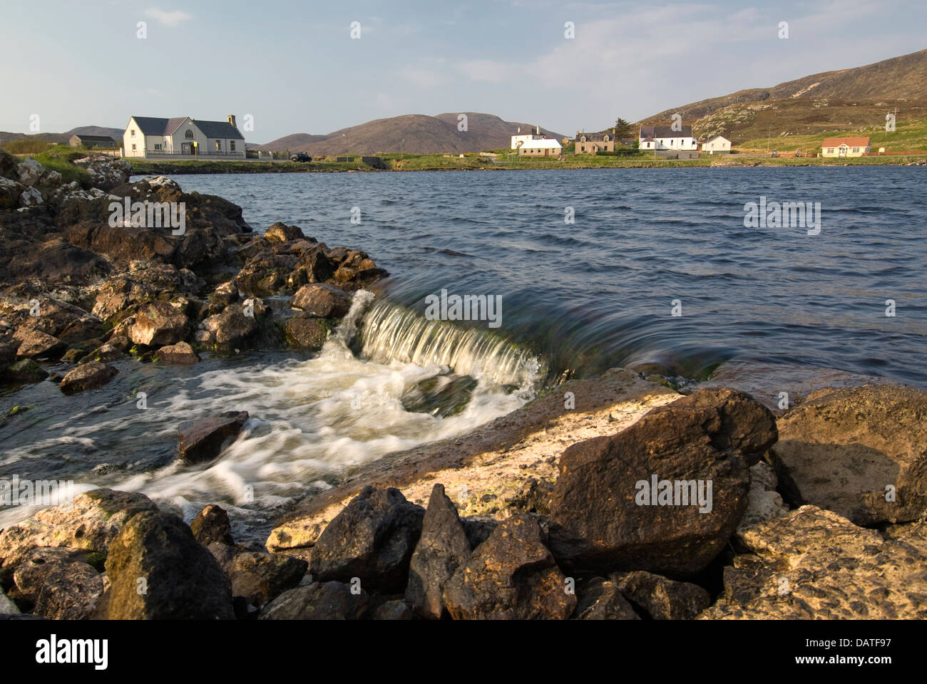 Leverburgh village, Isle of Harris, Outer Hebrides, Scotland - Stock Image