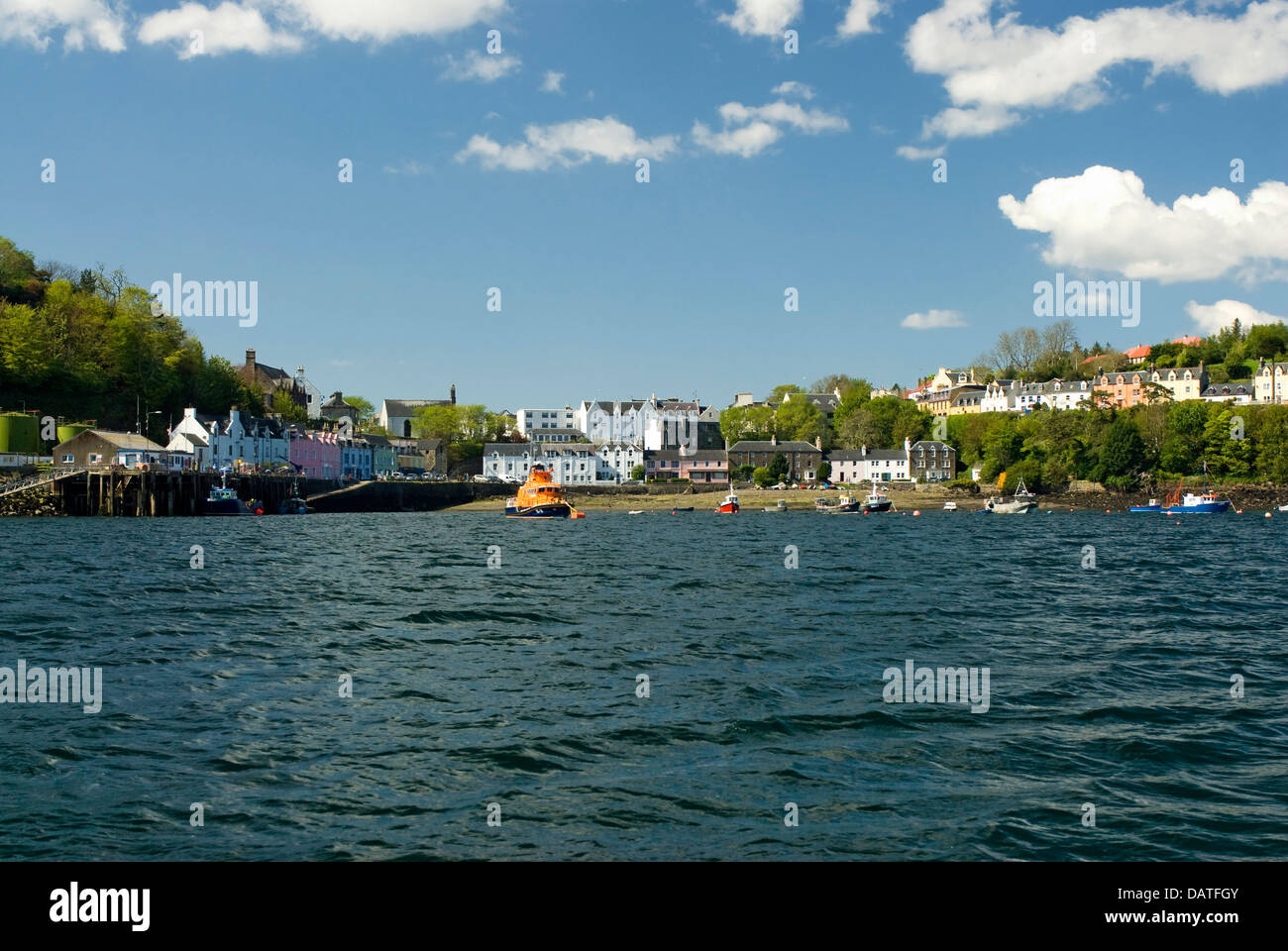 is the largest town on the Isle of Skye in the Inner Hebrides of Scotland, UK - Stock Image