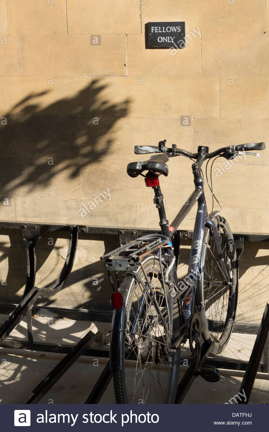 Fellows bike rack, Peterhouse College, Cambridge - Stock Image