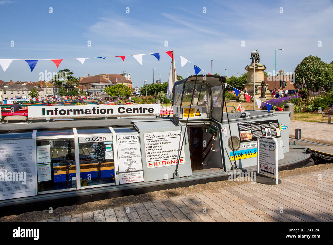 Stratford Waterways Information Centre in Bancroft Basin, Stratford Upon Avon - Stock Image