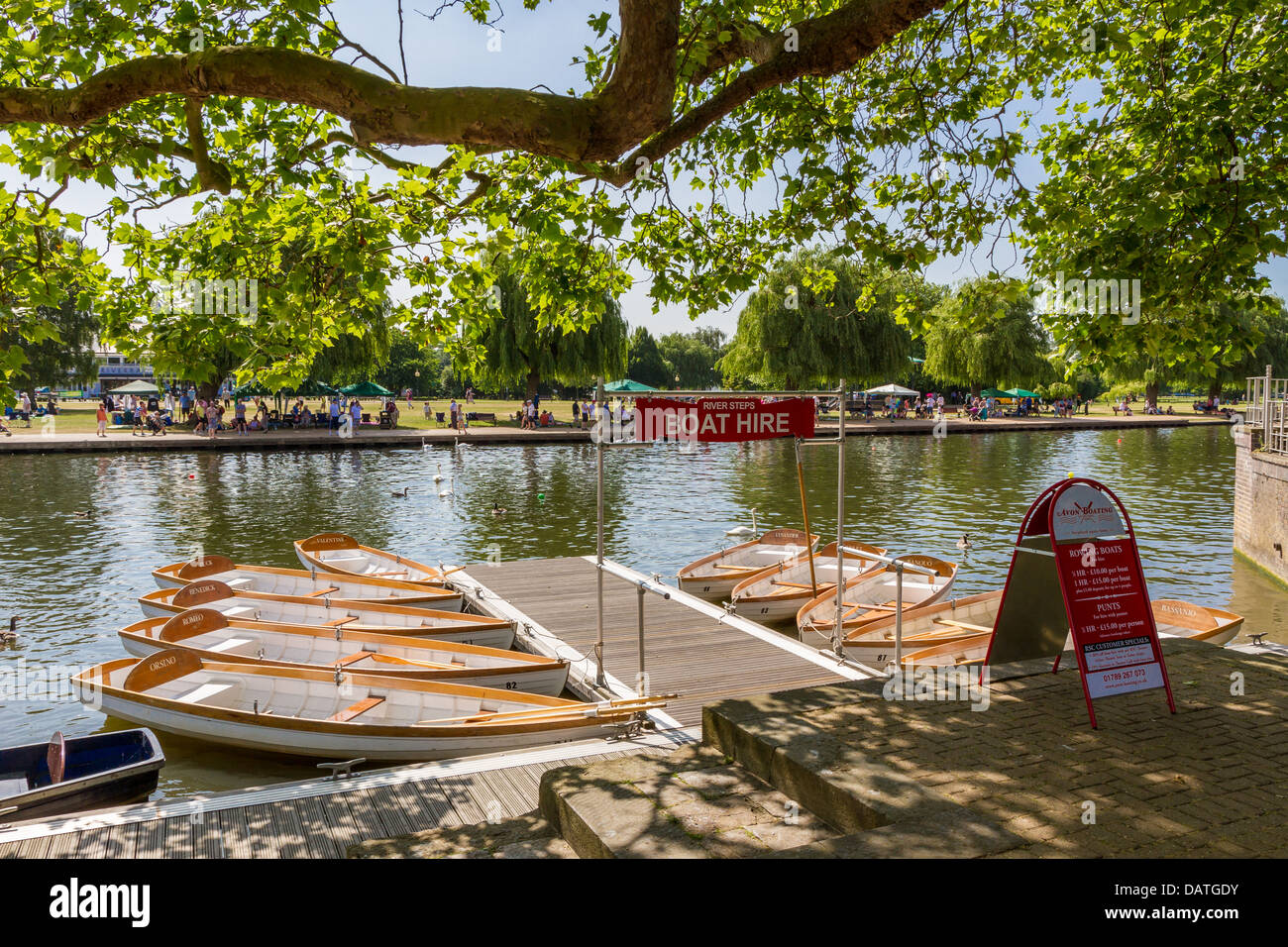 Rowing boat hire on the River Avon in Stratford - Stock Image